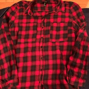 Long Forever 21 Plaid Shirt
